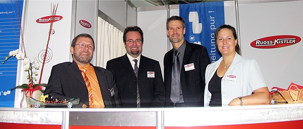 Orbit-iEX 2007 Stand-Team der RUOSS-KISTLER AG