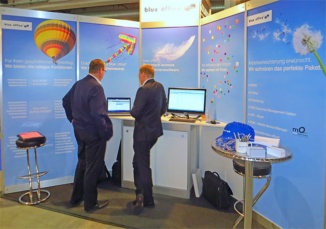 blue office Business-Software Stand an der topsoft 2014